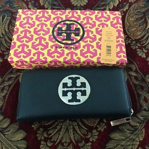 Authentic Tory Burch leather wallet